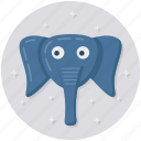 animal, creature, elephant, elephant face, elephant head icon