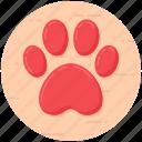 dog claw, dog paw, footprint, forepaw, paw icon