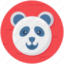 animal, creature, panda, panda face, panda head icon