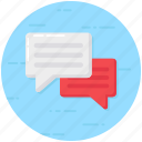 chatting, communication, conversation, discussion, messaging icon