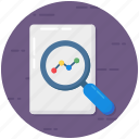 document analysis, document checking, file audit, file monitoring, file preview, overview icon