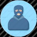 bandit, gangster, robber, terrorist, thief icon