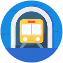 public train, public transport, rail, railroad, railway track, train, transportation icon