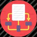 algorithm, flow diagram, flowchart, hierarchy, scheme, sitemap icon