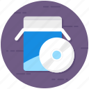 cd, cd drive, compact disk, disk, dvd, software installer icon