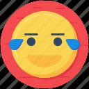 emotag, emoticon, happy face, laughing emoji, lol, smiley icon