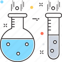 experiment, flask, lab test, research, sample tube icon