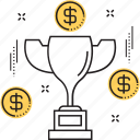 award, business trophy, prize, success, trophy icon