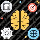 brain, brainstorming, mind, planning, thinking icon