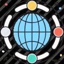 global coverage, global network, globe, internet, worldwide icon