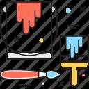 art, paint, paint brush, paint bucket, painting icon