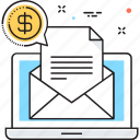 email, email marketing, laptop, message, vpn marketing icon
