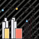 buildings, city, skyline, town, urban icon