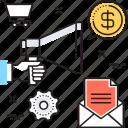 advertisement, bullhorn, digital marketing, email, marketing icon