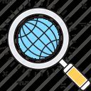 global search, globe, internet search, search, search glass icon
