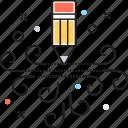 crayon, drafting, drawing, edit, pencil icon