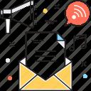 email, email marketing, marketing, megaphone, vpn marketing icon