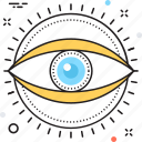 eye, look, monitoring, review, see icon