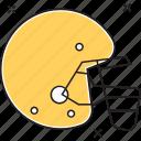 batsman, helmet, racing helmet, sports, sports helmet icon