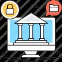 banking, internet banking, monitor, safe banking, secure banking icon