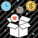 box, business idea, marketing, services, solution icon