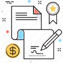 agreement, certification, contract, deal, licence icon