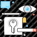 keyword, passkey, password, security, seo icon