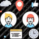 communication, conversation, people, speech bubble, talking icon