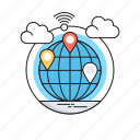 communication, global, globe, gps, internet icon