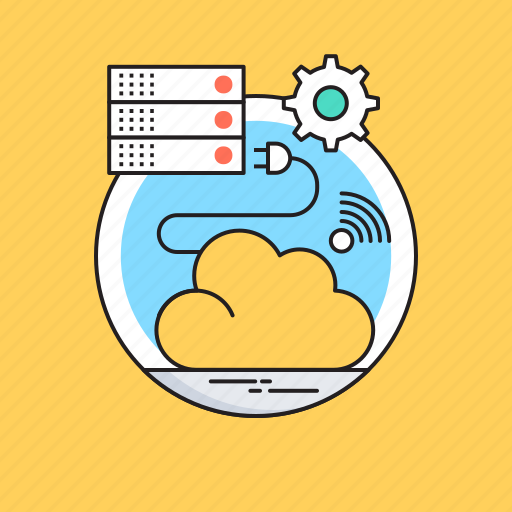 cloud computing, cloud data, cloud server, database, networking icon