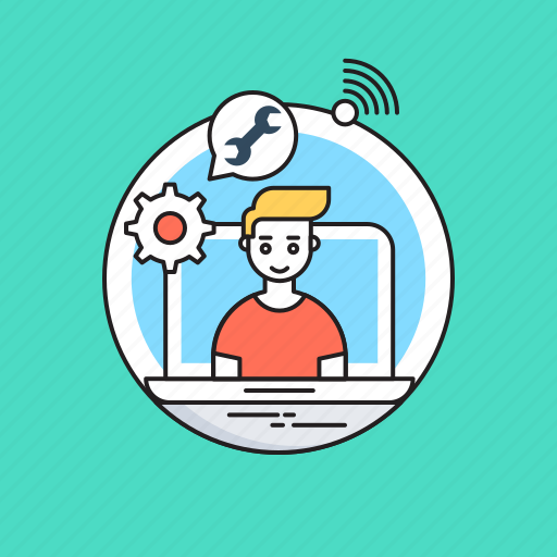 cog, customer service, customer support, support, technical services icon