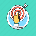 bullseye, dartboard, goal, mission, target icon