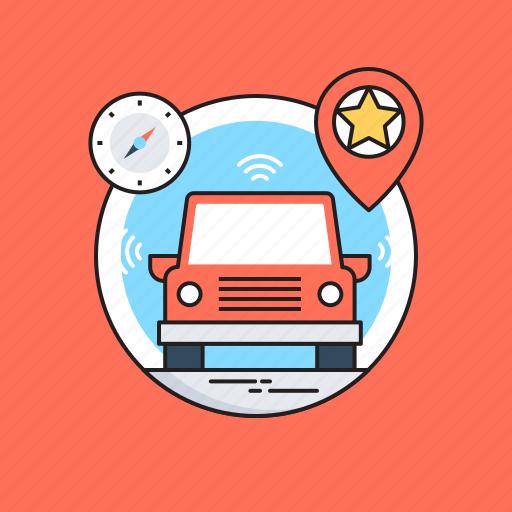 autonomous car, driverless car, self driving car, technology, vehicle icon