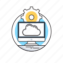 cloud computing, cloud network, monitor, networking, storage cloud icon
