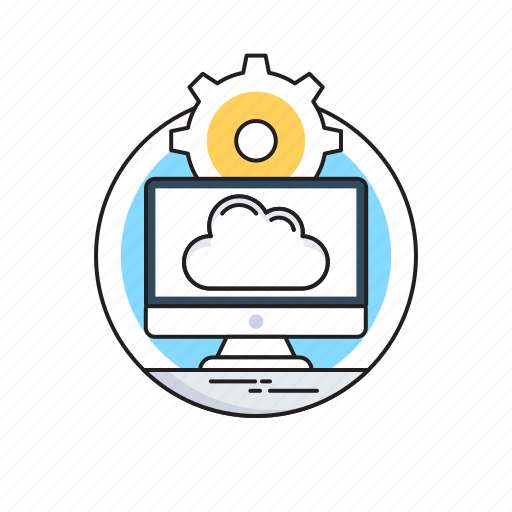 Cloud computing, cloud network, monitor, networking, storage cloud icon - Download on Iconfinder