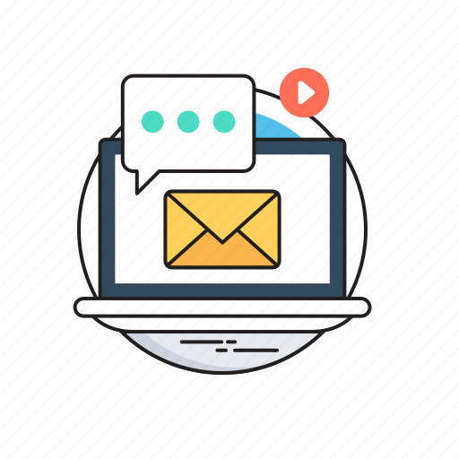 chat bubble, digital campaign, email, marketing, seo icon
