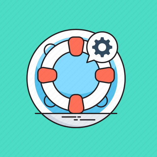 Cog, help, help service, lifering, support icon - Download on Iconfinder