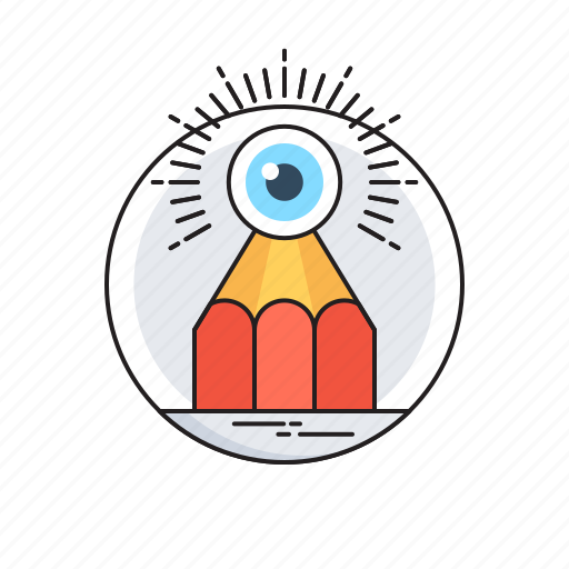 Analysis, eye, imagination, observation, pencil icon - Download on Iconfinder