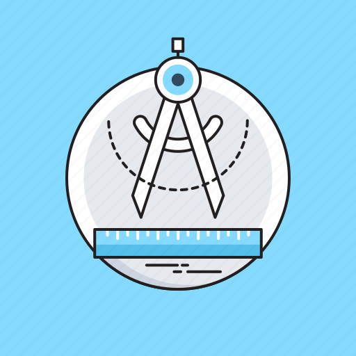 Compass tool, draf tool, drafting, protector, scale icon - Download on Iconfinder