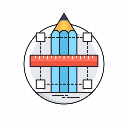 anchor, bezier, content, design, pencil tool icon