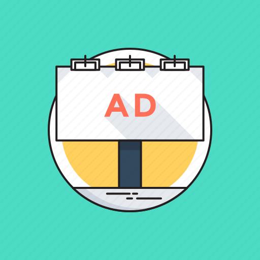 ad board, ad campaign, advertisement, billboard, road advertising icon
