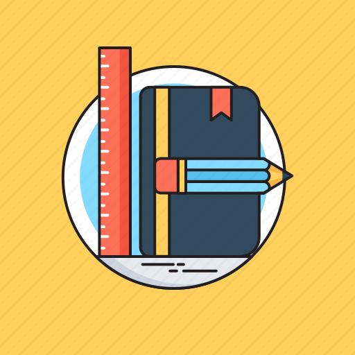 Book, designing, draft tools, illustration, vectors icon - Download on Iconfinder