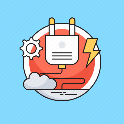 Cloud, cogwheel, electricity, plugin, thunder icon - Download on Iconfinder