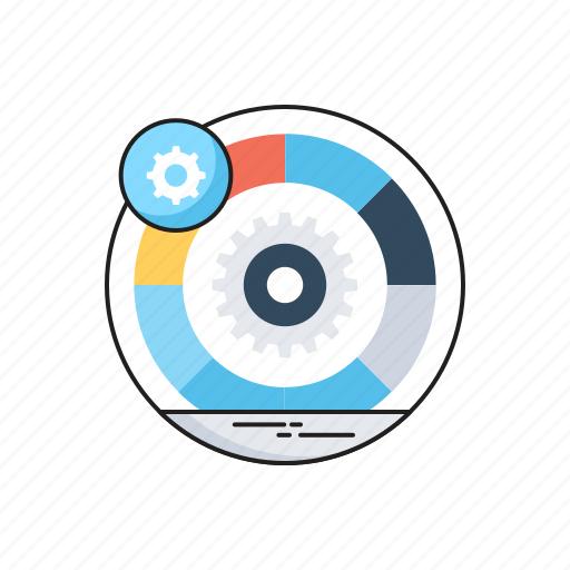 cogwheel, convert, data management, data processing, management icon