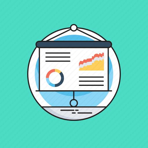 Business presentation, flip chart, pie graph, presentation board, report icon - Download on Iconfinder
