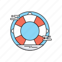 lifebuoy, lifeguard, lifesaver, save guard, support icon