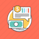 business, dollar, finance, marketing, papermoney icon