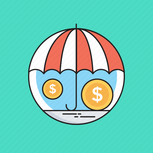 Dollar, insurance, money protection, safe investment, umbrella icon - Download on Iconfinder