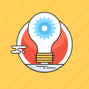 cogwheel, creative idea, creativity, idea, idea develop icon