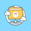cloud computing, folder, hosting, server, share folder icon